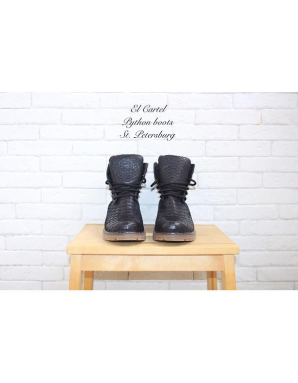 Ботинки из питона демисезон