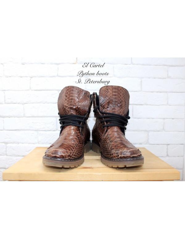 Шоколадные зимние ботиночки