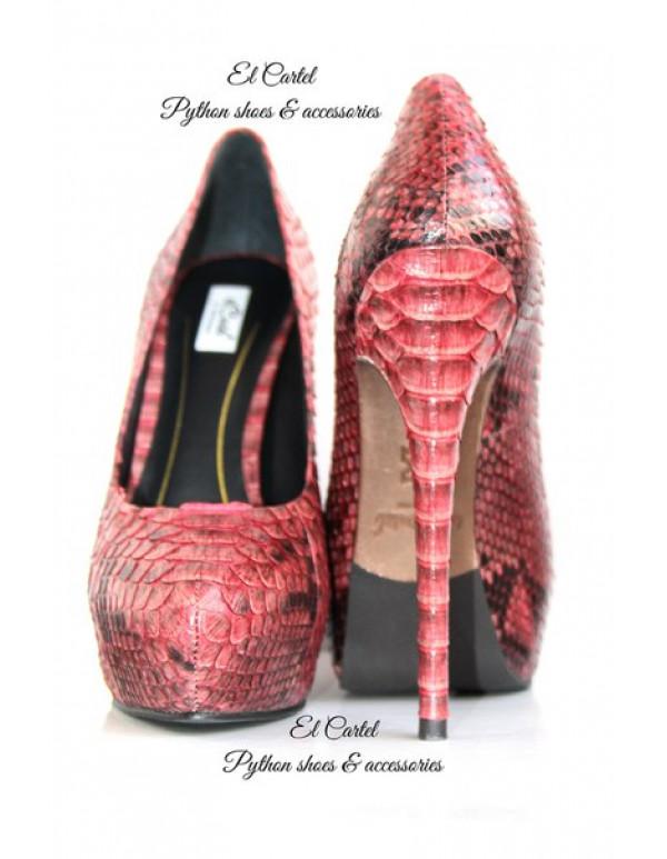 Туфли на платформе грязно-розовые