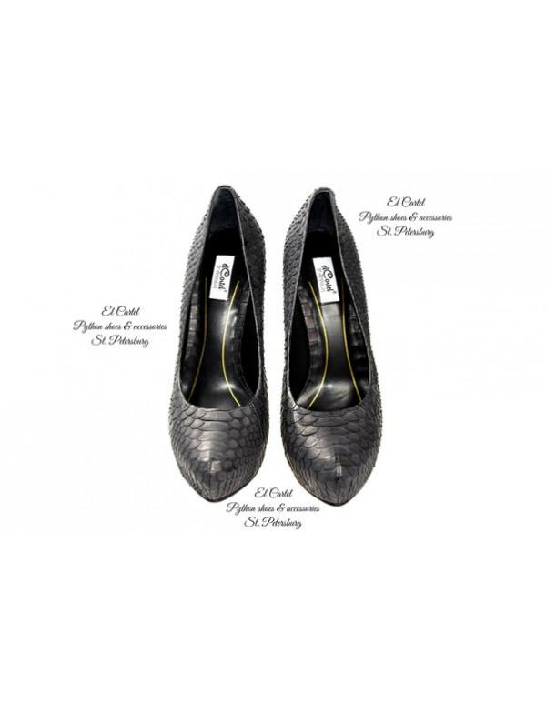 Туфли на платформе черные